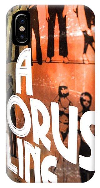 A Chorus Line Vintage II Phone Case by Toni Ryder