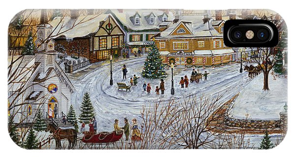 A Christmas Village IPhone Case