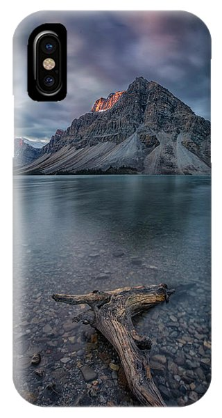 Long Exposure iPhone Case - A Cloudy Day In Bow Lake by Michael Zheng