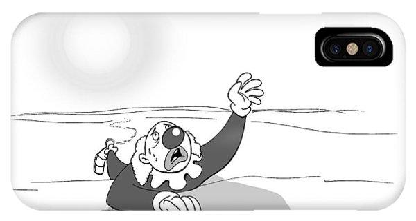 A Clown Crawls Through The Desert IPhone X Case