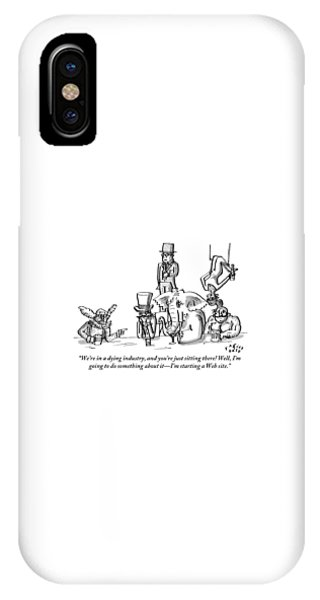 A Clown Gives Advice To A Disheartened Group IPhone Case