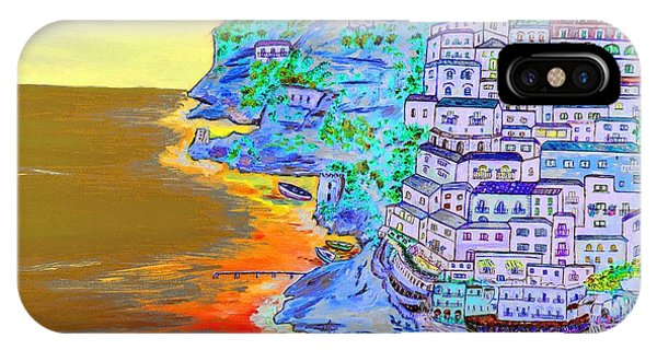 A Coastal View Of Positano IPhone Case