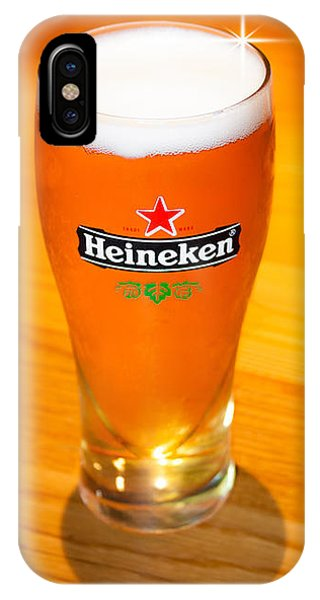 A Cold Refreshing Pint Of Heineken Lager IPhone Case