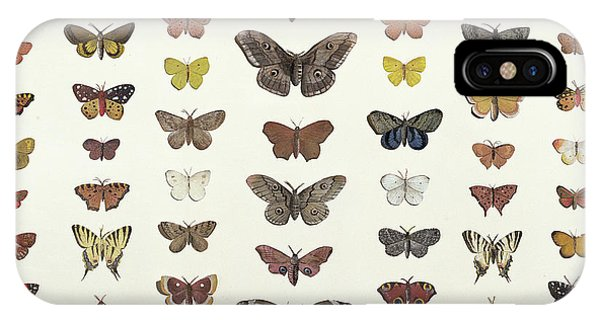 Minimal iPhone Case - A Collage Of Butterflies And Moths by French School