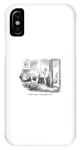 Debts iPhone Case - A Collection Agency Is Threatening Air Strikes by Frank Cotham