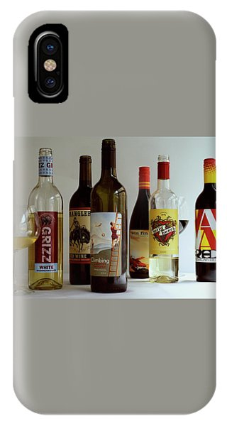 A Collection Of Wine Bottles IPhone Case