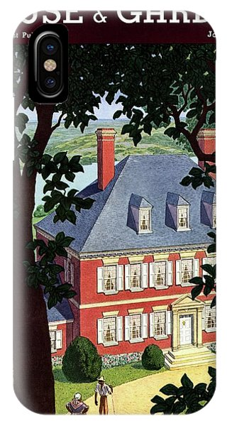 A Colonial Manor House IPhone Case