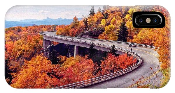 A Colorful Ride Along The Blue Ridge Parkway IPhone Case