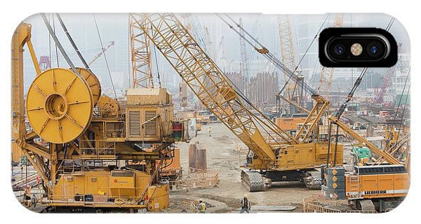 A Construction Site In Hong Kong IPhone Case