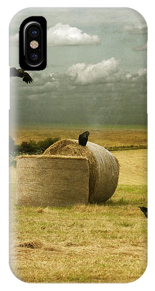 A Counrty Hay Field IPhone Case
