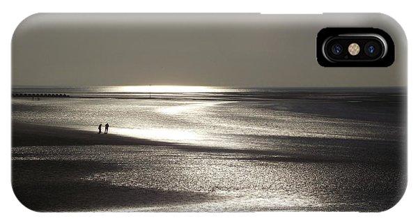 A Couple On A Deserted Beach IPhone Case