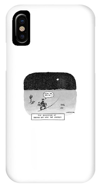 The Downside Of Riding Off Into The Sunset IPhone Case
