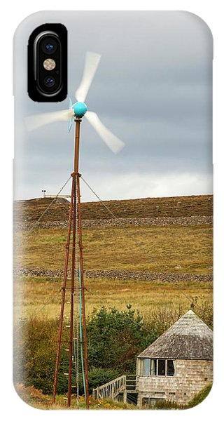 A Croft Powered By Wind And Solar IPhone Case