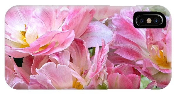 A Crowd Of Tulips IPhone Case