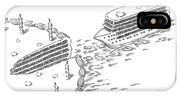 Cruise Ship iPhone Case - A Cruise Ship Shaped Like A Wedge Of Birthday by John O'Brien