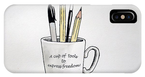 A Cup Of Tools To Express Freedom IPhone Case