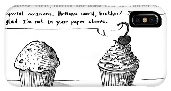 A Cupcake Talks To A Muffin. Captionless IPhone Case