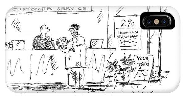 A Customer Service Representative Speaks To A Man IPhone Case