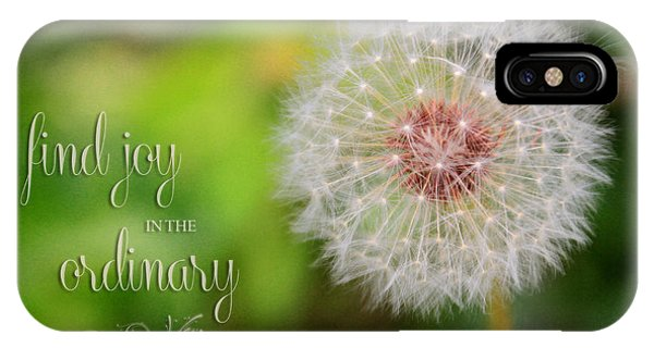 A Dandy Dandelion With Message IPhone Case