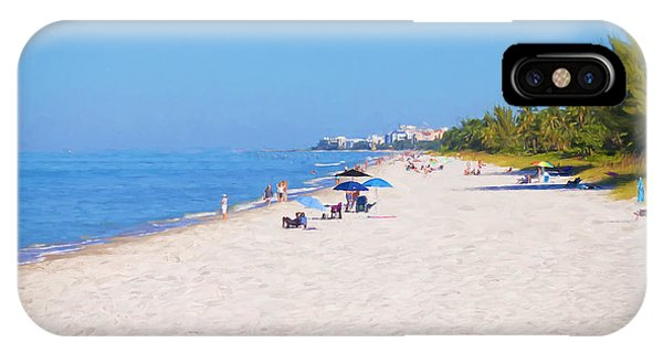 A Day At Naples Beach IPhone Case