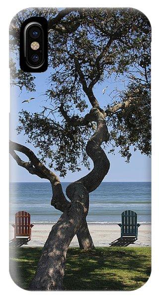 Beach Chair iPhone Case - A Day At The Beach by Mike McGlothlen