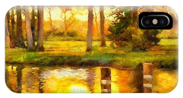 A Day At The Pond IPhone Case