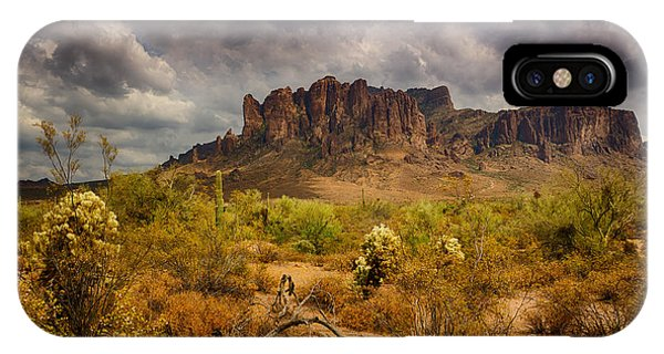 A Day At The Superstitions  IPhone Case