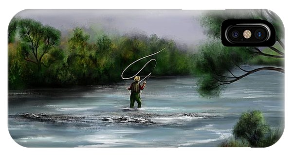A Day On The Stream - Flyfishing IPhone Case