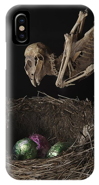 A Dead Bird Flies Into Its Nest Only To Find Chocolate Eggs IPhone Case