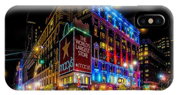 A December Evening At Macy's  IPhone Case