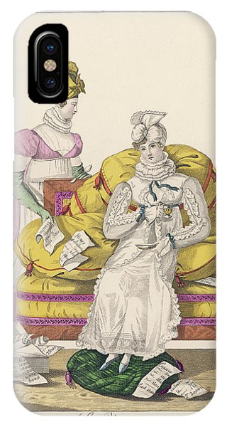 A Dejected Lady Seeks Comfort Phone Case by Mary Evans Picture Library