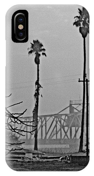 a Delta drawbridge in the morning mist IPhone Case