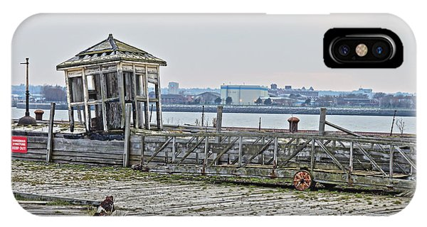 A Derelict Kiosk On A Disused Quay In Liverpool IPhone Case