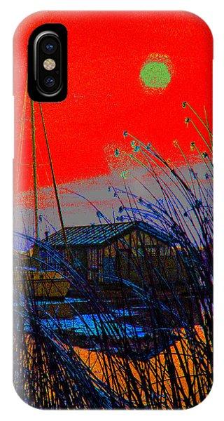 A Digital Marina Sunset IPhone Case