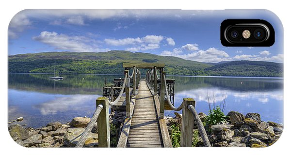 A Dock Out To Loch Tay IPhone Case