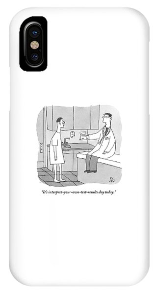 A Doctor Sits Where The Patient Normally IPhone Case