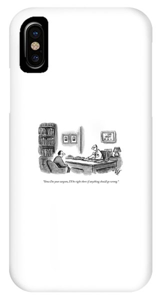 A Doctor Speaks To A Patient In His Office IPhone Case