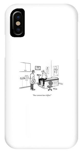 A Doctor Talks To An Old Man With A Gut IPhone Case