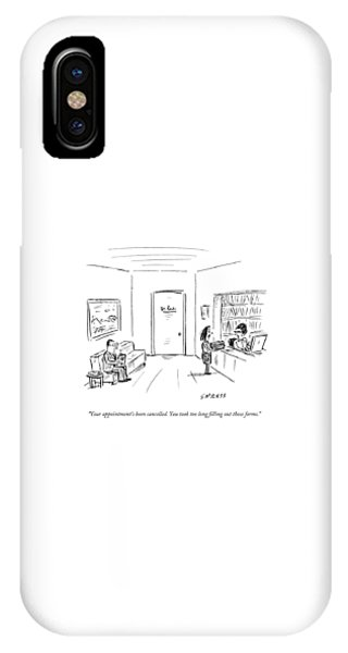 A Doctor's Office Receptionist Says To A Woman IPhone Case