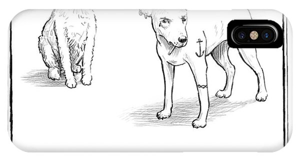 March iPhone Case - Kennel Changes A Dog Muffin by Matthew Diffee