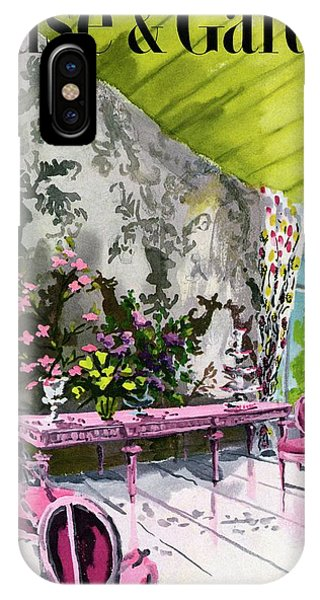 A Drawing Room With Schumacher Wallpaper IPhone Case