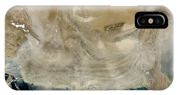 A Dust Storm Stretching From The Coast IPhone Case