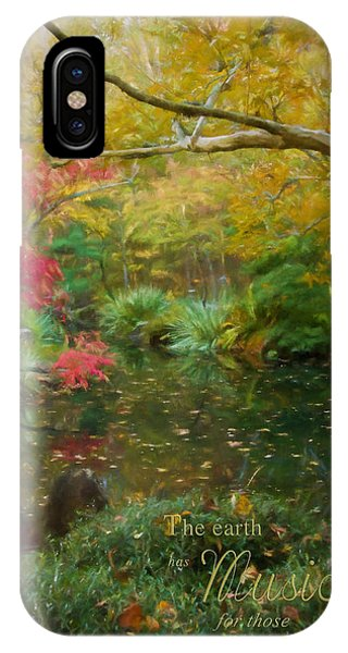 A Fall Afternoon With Message IPhone Case