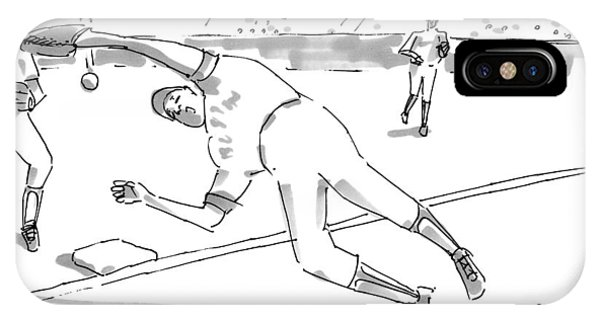 A Falling Baseball Player Fails To Catch A Ball IPhone Case
