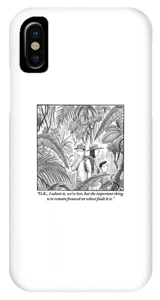 A Family Is Lost In The Depths Of A Jungle IPhone Case