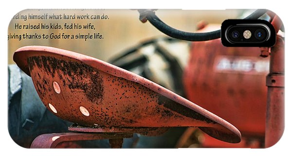 A Farmer And His Tractor Poem IPhone Case