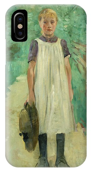 1895 iPhone Case - A Farmgirl by Thomas Ludwig Herbst