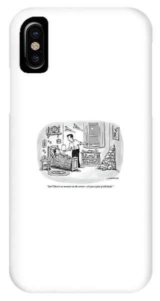 A Father Points To A Pile Of Skulls In The Corner IPhone Case