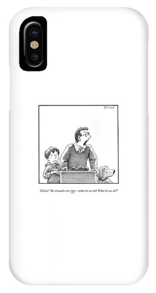 A Father, Son, And Dog All Worry At The Sight IPhone Case