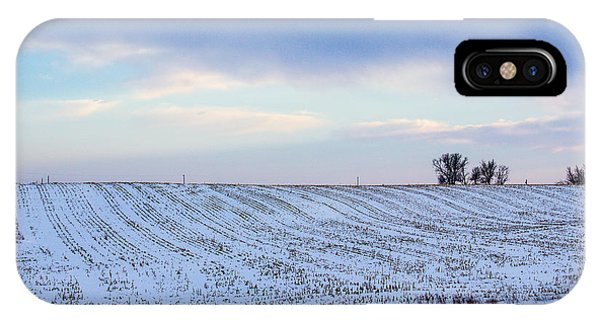 A Field In Iowa At Sunset IPhone Case